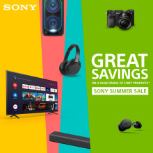 Sony Summer Sale launches online 24th June to 7th July on a huge range of products