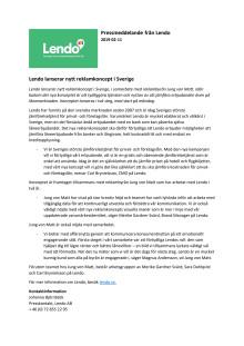 Lendo lanserar nytt reklamkoncept - pressmeddelande pdf