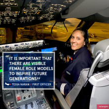 Faces of Norwegian: First Officer Tessa Naran