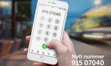 Nytt telefonnummer fra 30. oktober