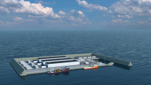 Denmark decides to construct the world's first windenergy hub as an artificial island in the North Sea.