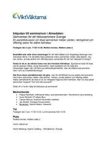ViktVäktarna kommer till Almedalen 2012!