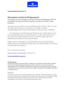 Norrmejerier nominerat till Signumpriset