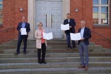 Unterzeichnung des Letter of Intent zur gemeinsamen Radverkehrsförderung und -forschung in der Modellregion ZES