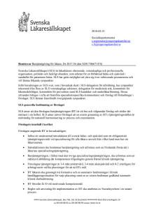Läs hela SLS remissvar om förslaget att införa bastjänstgöring för läkare