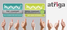 atriga ist Top Company und Open Company beim Arbeitgeber-Bewertungsportal kununu