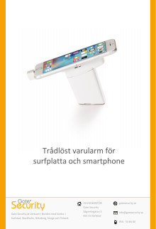 PDF: Trådlöst varularm för surfplatta och smartphone
