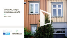 Oppgang i boligprisene i mars