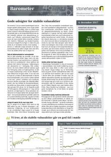 Barometer: Gode udsigter for stabile valueaktier