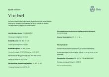 Ungdomstilbud april 2020 - kontaktinformasjon og telefontider