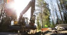Svevia förbereder nya villaområdet i Nybro