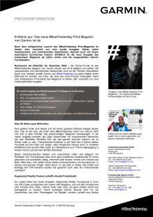 PM Garmin #BeatYesterday Print-Magazin Ausgabe 2