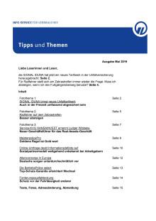 Tipps und Themen 5-2019