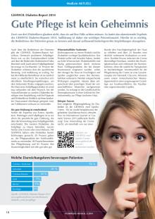 GEHWOL Diabetes-Report 2014: Gute Pflege ist kein Geheimnis