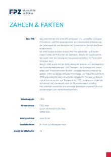 Zahlen und Fakten über FPZ