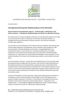 Vertragsunterzeichnung über Glasfaserausbau im Kreis Warendorf