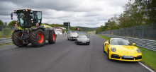 CLAAS XERION debuts on the Nordschleife