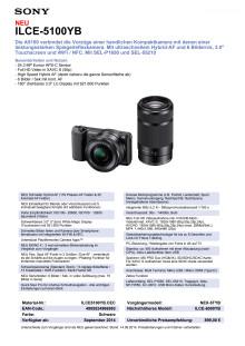Datenblatt ILCE-5100YB von Sony
