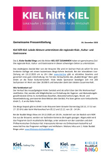 Kiel isst zusammen & spielt gemeinsam Buddelbingo am 19. Dezember 2020