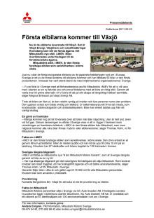 Första elbilarna kommer till Växjö