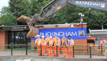 Demolition of Kidderminster station begins ahead of rebuild