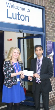 Railway staff raise money for Luton hospice