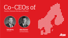 Aon promotes leaders as Co-Chief Executive Officers of the Nordics region