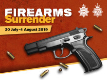 Hand in your illegal or unwanted guns during national firearms surrender
