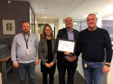 Mottok CEEQUAL-sertifikat på høyeste nivå for Mosjøen havn