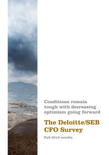 Deloitte/SEB CFO Survey: Optimismen minskar hos de svenska företagen