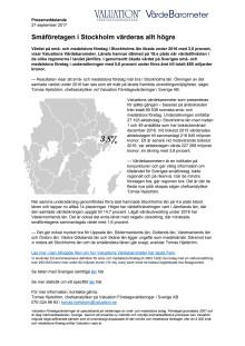 Värdebarometern 2017 Stockholms län