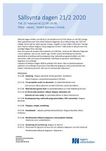 Program för sällsynta dagen i Umeå 21/2 2020