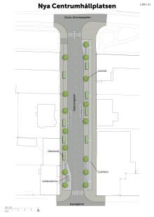 Nya centrumhållplatser byggs på Stationsgatan