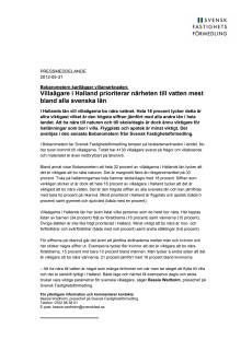 Bobarometern: Villaägare i Halland prioriterar närheten till vatten mest bland alla svenska län