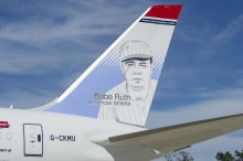 Norwegian Introduces Fourth American Tailfin Hero:  Babe Ruth