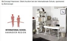 Silent Auction bei der Internationale Schule, sponsored by BoConcept