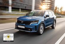 Den nye KIA Sorento får fem stjerner i Euro NCAP-sikkerhedstesten