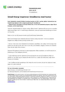 Umeå Energi inspirerar Umeåborna med humor
