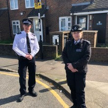 Officers in south London paying special visits to the elderly and isolated