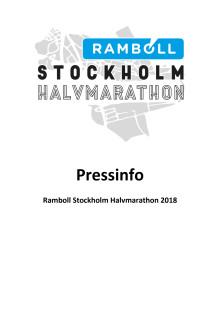 Pressfakta Ramboll Stockholm Halvmarathon 2019