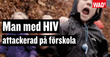 MAN med HIV attackerad på förskola - World AIDS Day kampanj 2018