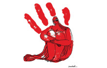 Satirtecknaren Doaa el-Adl tar emot årets EWK-pris i Kairo
