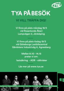 Inbjudan till TYAs event i Jönköping och Göteborg