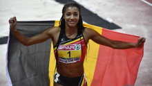 Nafissatou Thiam : une athlète très présente dans les médias grâce à sa médaille d'or olympique et à son titre européen en salle.