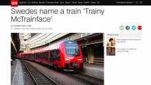 Global PR-succé för det svenska tåget
