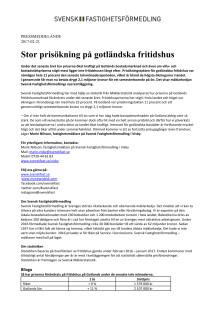 Stor prisökning på gotländska fritidshus