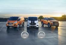 """Dvojitý zásah: Užitkové modely Ford byly vyhlášeny """"dodávkou roku"""" i """"pick-upem roku"""" 2020"""