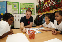 Eoin Morgan goes back to school to introduce new projects for ICC Cricket World Cup Schools Programme