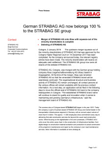 German STRABAG AG now belongs 100 % to the STRABAG SE group