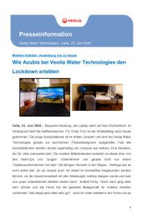 Neues Arbeiten: Wie Azubis bei Veolia Water Technologies den Lockdown erlebten